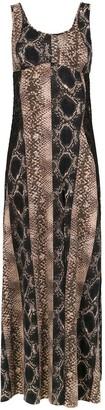AMIR SLAMA Long Silk Dress