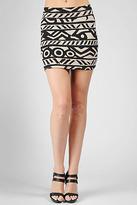 Rachel Pally Bandage Mini Skirt Print