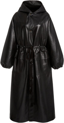 Nanushka Noki Oversized Leather-Blend Coat