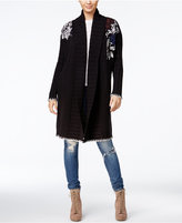 GUESS Embroidered Maxi Cardigan