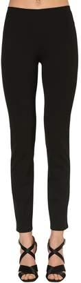 Alberta Ferretti Skinny Stretch Wool Gabardine Pants