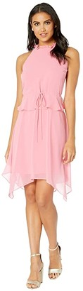 Sam Edelman Halter Hanky Hem Dress (Watermelon Punch) Women's Dress