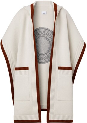 Burberry Logo Hooded Cape