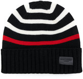 Saint Laurent striped knitted beanie - men - Wool - M