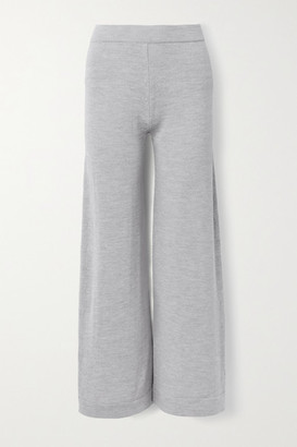 Max Mara Leisure Renna Wool Wide-leg Pants - Light gray