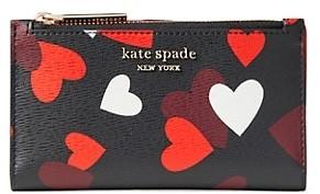 Kate Spade Small Spencer Celebration Hearts PVC Bi-Fold Wallet