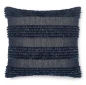 Calvin Klein Denim Fringe 18 Square Decorative Pillow Bedding