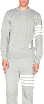 Thom Browne Classic Sweatshirt in Light Heather Grey   FWRD