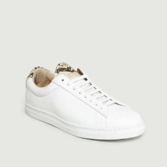 Zespà White Leather Apla Viper ZSP4 Sneakers - 36 | leather | white - White/White