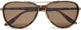 Barton Perreira Gazarri Aviator-style Acetate And Gold-tone Sunglasses