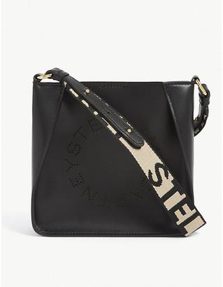 Stella McCartney Logo vegan leather shoulder bag