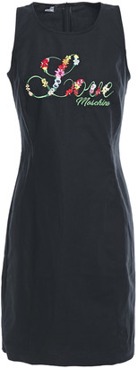 Love Moschino Embroidered Cotton-blend Canvas Mini Dress