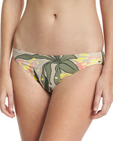 Vince Camuto Classic Floral-Print Swim Bottom, Green Pattern