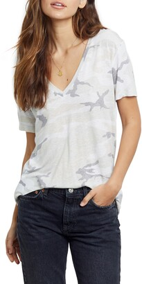 Rails Cara Camo V-Neck T-Shirt