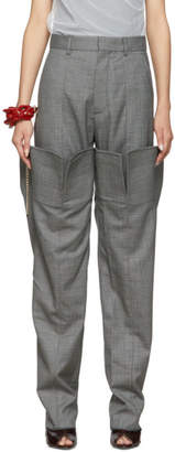 Y/Project Grey Check Double Leg Trousers