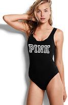 PINK Scoop Neck Tank Bodysuit