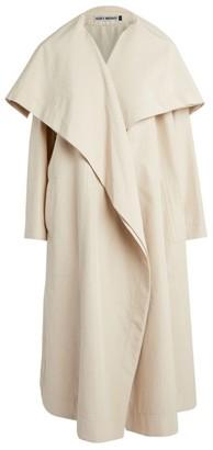 Issey Miyake Silk-Wool Square Collar Coat