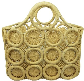 Velvet by Graham & Spencer Macrame Small Straw Tote
