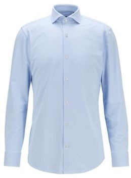 HUGO BOSS Slim-fit shirt in micro-structured performance-stretch fabric