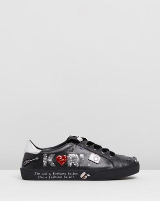 Karl Lagerfeld Paris Skool Jewel Badge Lo Sneakers