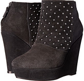 The Kooples Ankle Boots in Velvet Effect Leather and Studs