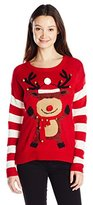 It's Our Time Junior's Christmas 3D Raindeer Cute Christmas Sweater