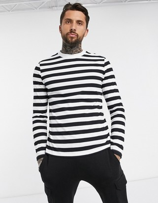 ASOS DESIGN long sleeve striped t-shirt in organic cotton