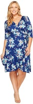 Kiyonna Flirty Flounce Wrap Dress Women's Dress