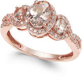 Macy's Morganite (3/4 ct. t.w.) and Diamond (1/4 ct. t.w.) Ring in 14k Rose Gold