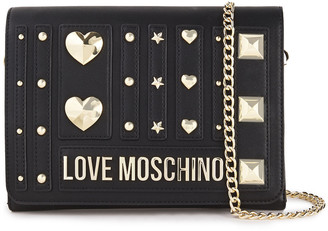 Love Moschino Studded Faux Leather Clutch
