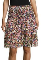 The Kooples Ruffle Floral Skirt