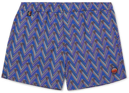 Missoni Slim-Fit Mid-Length Printed Swim Shorts