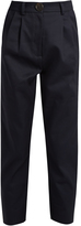 Awake High-rise cotton cropped chino trousers