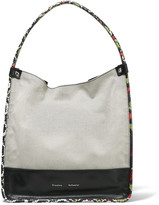 Proenza Schouler Ayers and leather-trimmed canvas tote