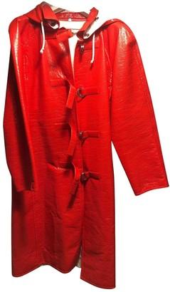 Courreges \N Orange Cotton Coat for Women