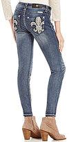 Miss Me Fleur-de-Lis Pocket Skinny Jeans