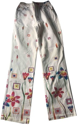 Byblos White Denim - Jeans Trousers for Women