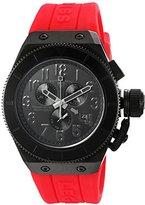 Swiss Legend Men's 'Trimix Diver 2.0' Quartz Stainless Steel and Silicone Automatic Watch, Color:Red (Model: 13845-BB-01-RDS)
