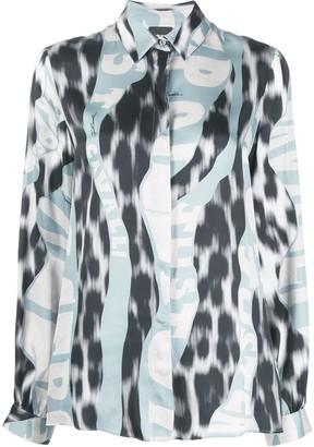 Just Cavalli Leopard Logo-Print Shirt