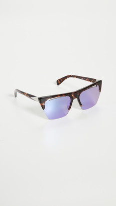 Rag & Bone Angled Shield Sunglasses