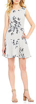 Armani Exchange Printed Fit-and-Flare Dress