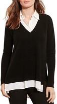 Lauren Ralph Lauren V-Neck Layered-Look Cashmere Sweater - 100% Bloomingdale's Exclusive