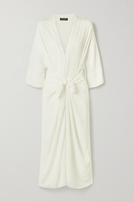 Haight Ana Tie-front Crepe Dress - Off-white