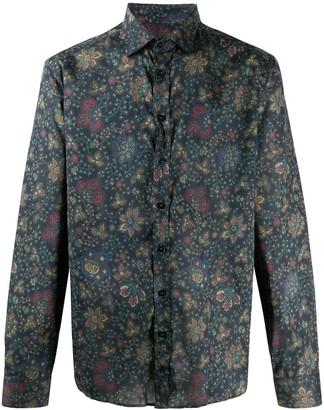 Etro Long Sleeved Floral Print Shirt