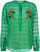 Stella McCartney lace embroidered tree shirt - women - Silk/Cotton/Polyester - 42