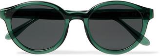 Ahnah Wim Round-Frame Tortoiseshell Bio-Acetate Sunglasses