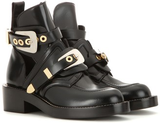 Balenciaga Ceinture leather ankle boots