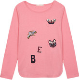 Billieblush Billie Blush BE patches cotton-blend long-sleeved top 4-12 years