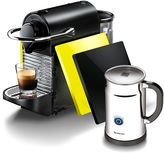 Nespresso Pixie Clips Espresso Machine in Black and Lemon Neon