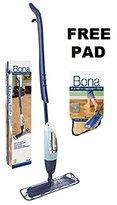Bona Hardwood Floor Spray Mop, includes 28.75 oz. Cartridge with Free Bona Microfiber Applicator Pad